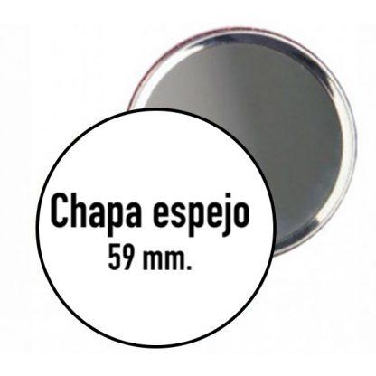 Chapa con espejo de 59 mm.