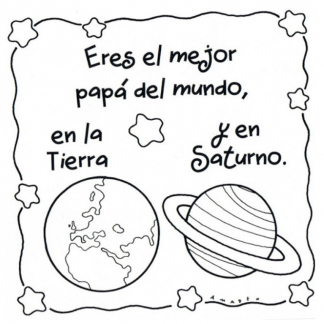 """Taza """"Eres el mejor papá del mundo en la Tierra y en Saturno"""""""