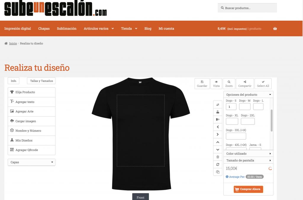 Camisetas personalizadas Montilla
